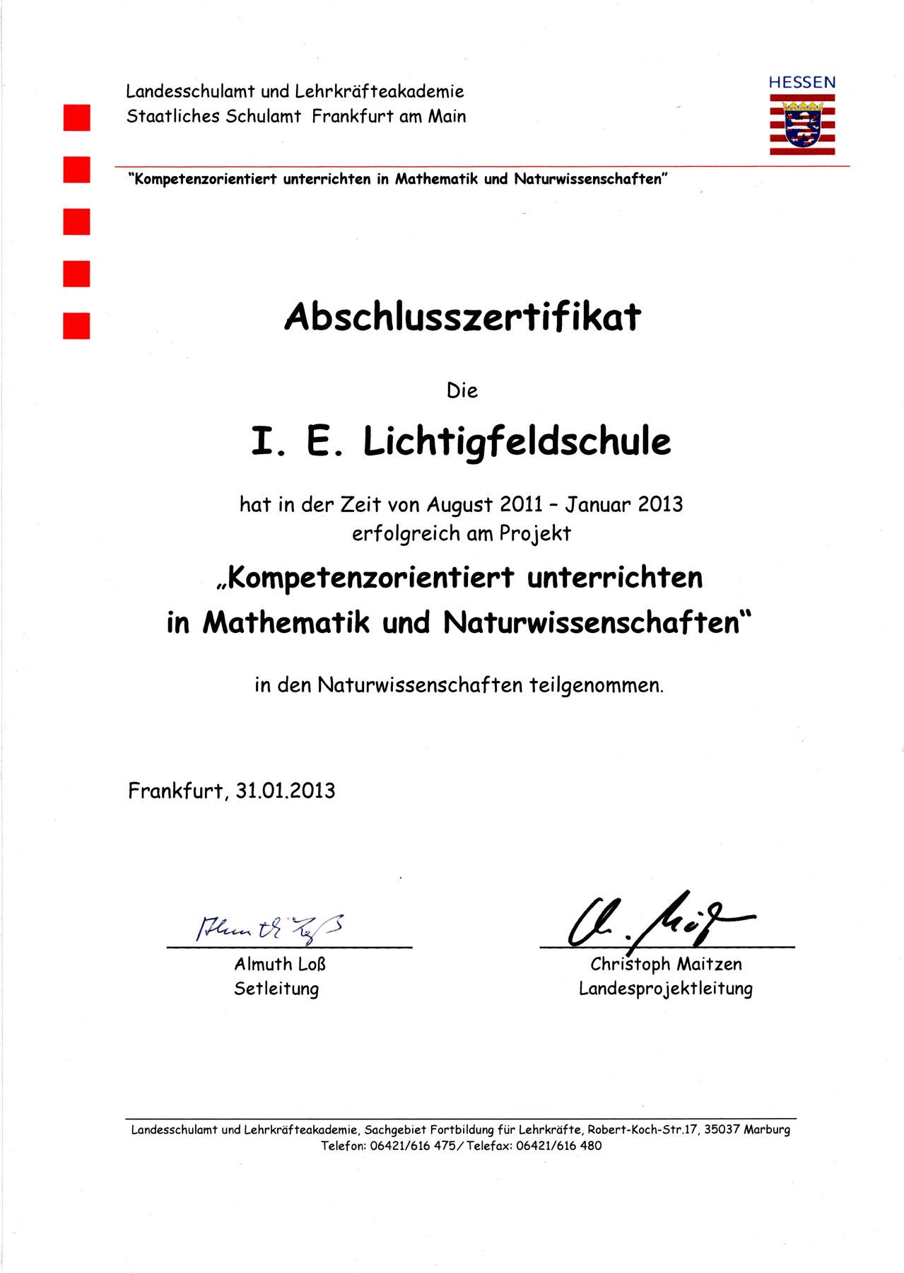 Kompetenzorientiert unterrichten in Mathematik und Naturwissenschaft
