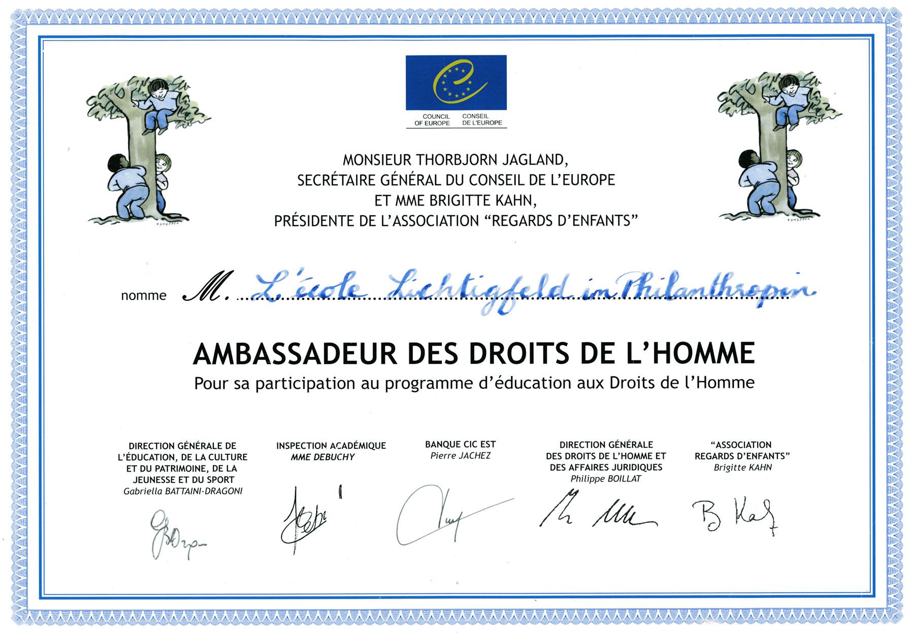 Auszeichnung: Menschenrechte