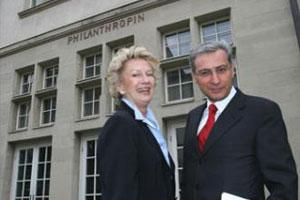 Oberbürgermeisterin Petra Roth und Gemeindevorsitzender Salomon Korn